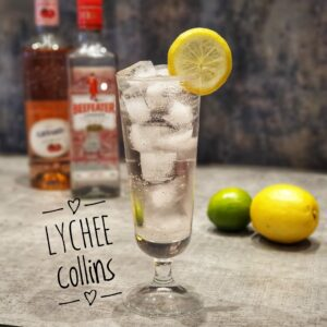 lychee collins cocktail