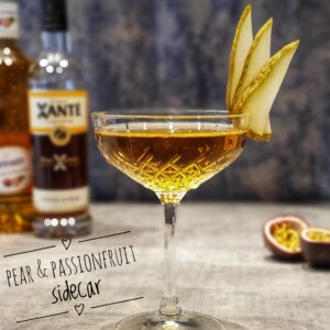 Pear & Passionfruit Sidecar Cocktail