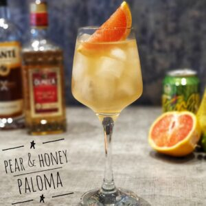pear & honey paloma cocktail
