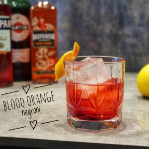 blood orange negroni cocktail
